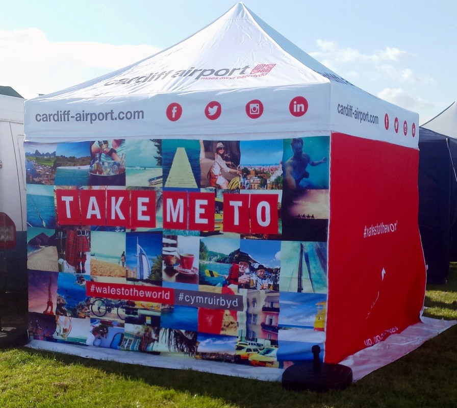 Cardiff Airport's trade tent