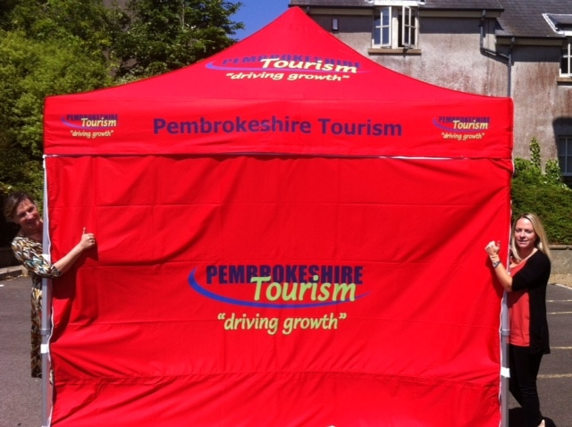 Photo of the Pembrokeshire Tourism trade tent