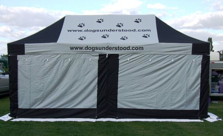 The Elite 3x6m gazebo with prints