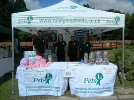 Runnymede Vets in gazebo