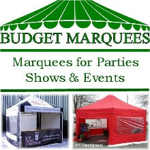 Budget Marquees logo