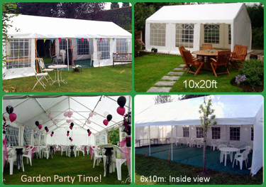 Range of marquees for hire