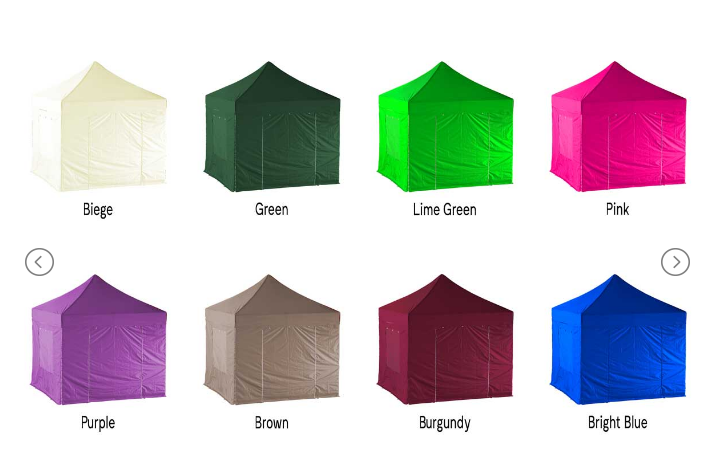 Lite gazebo colour options