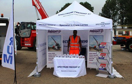 Spectrum Freight's trade tent